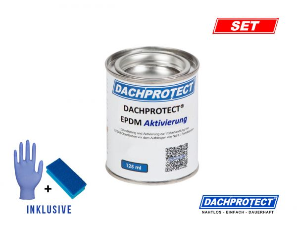 DACHPROTECT® EPDM Aktivierung inkl. Schwamm & Handschuh für Nahtprodukte