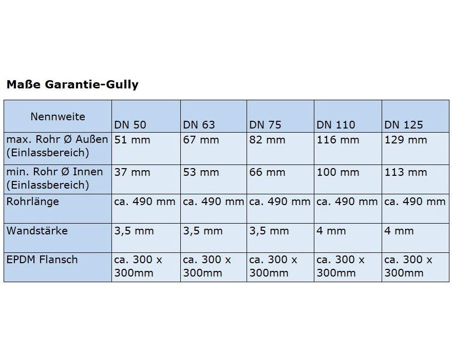 Relativ DACHPROTECT® Garantie-Seitennotablauf (DN 50 - 125 wählbar) | Ihr XD73