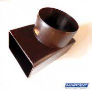 DACHPROTECT® Seitenablaufadapter 90° (Rechteckprofil 60 x 100 auf DN 76)