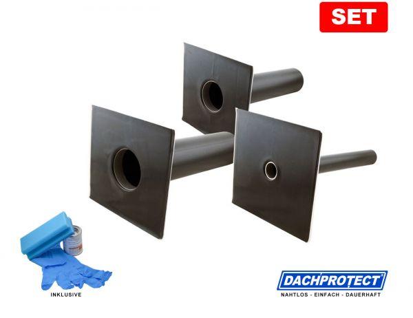 SET: DACHPROTECT® Garantie-Seitenablauf (DN 50 - 125 wählbar) inkl. Aktivierung
